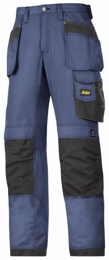 Snickers 3213 Ripstop Craftsmen Holster Pocket Trousers (Navy/Black)